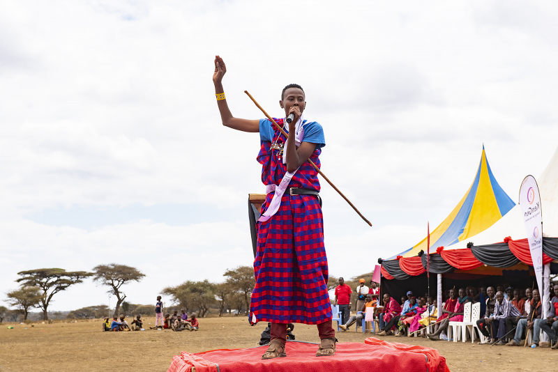 "Abdi Mohamed, 19, spoke at the ceremony, boldly exclaiming to the crowd of more than 1,000 people, ""If you cut your girl, I will not marry her!"" sparking laughter and a rousing cheer from the crowd. Afterwards, Mohamed states that the best way to end FGM/C is through education: ""We hope one day it will be history."""